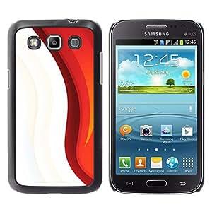 BearCase / Cubierta de protección Caso duro de la contraportada de Shell Plástico /// Samsung Galaxy Win I8550 /// Blanco rojo