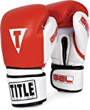 TITLE Gel Intense Bag Gloves, Red/White, 16-Ounce