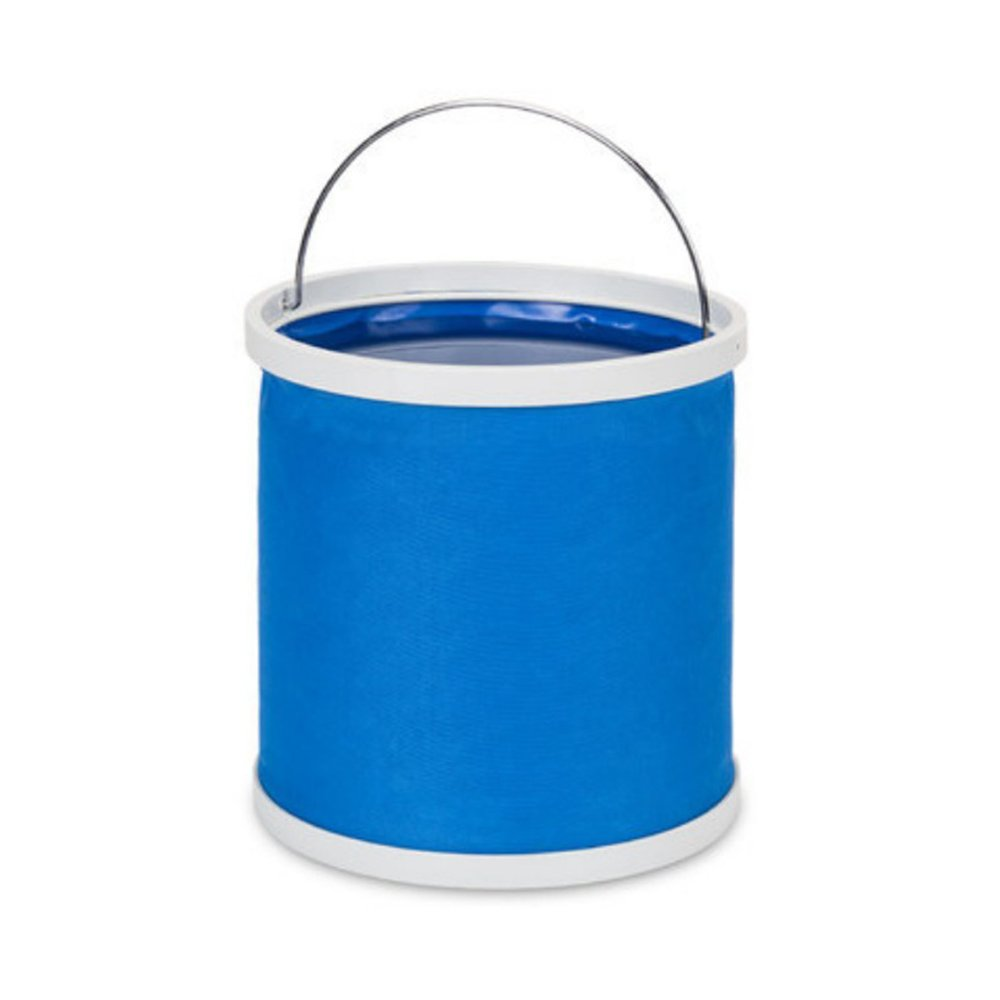 Collapsible Water Bucket, 9L Water Bag, Portable Travel Outdoor Wash Basin, Folding Pail Fishing Cleaning Water Container for RVs, Camping, Fishing, Boating, Hiking and More