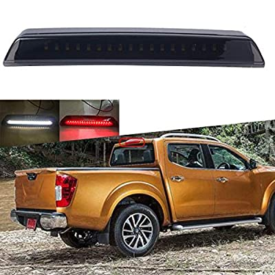 SOYAVISION High Mount Cargo Light for 2004-2015 Nissan Titan Frontier LED Rear Third 3rd Brake Light Smoke Cargo Lamp Bar: Automotive