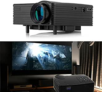 Negro H100 Mini proyector LED Soporte HDMI / AV / VGA / USB / SD reproductor de HD proyector portable Beamer Home Theater de videojuegos TV projetor: Amazon.es: Oficina y papelería