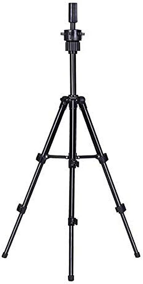 Wig Stand Stainless Steel Adjustable Tripod Stand Head Stand Wig Stand Tripod for Hairdressing Training Head Mannequin Head