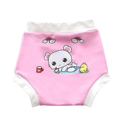 Decdeal Pañales de Natación para Bebés Niño Reutilizables Pantalones Cortos con Dibujos Animadores Lindo Impermeables