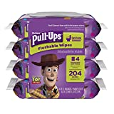 Health & Personal Care : Huggies Pull-Ups Big Kid Flushable Wipes Pouch - 204 ct