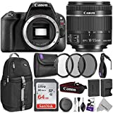 Canon EOS Rebel SL2 DSLR Camera with 18-55mm Lens w/Advanced Photo and Travel Bundle,Black