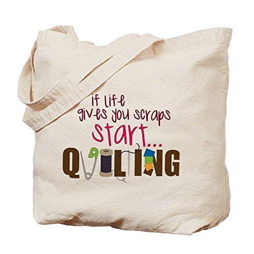 CafePress–start Quilting–Gamuza de bolsa de lona bolsa, bolsa de la compra