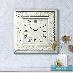 Newhill Designs Cielo Mirrored 20 Square Wall Clock