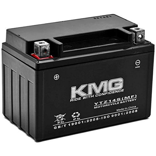 KMG Honda 750 VT750DC A B Shadow Spirit 2001-2007 YTZ14S Sealed Maintenace Free Battery High Performance 12V SMF OEM Replacement Maintenance Free Powersport Motorcycle ATV Scooter Snowmobile KMG