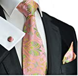 Extra Long Paul Malone Silk Tie and Accessories . Pink