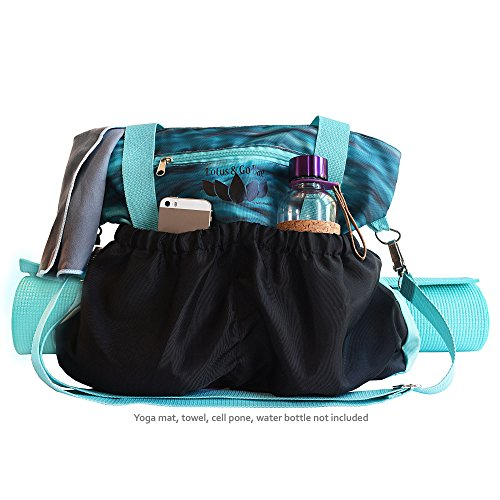 Yoga, Gym, Beach, Travel, Weekend, Overnight Bag or Tote | Stylish Carry-on For All Essentials | Adjustable Straps For Yoga Mat, Towels or Blanket, Many Pockets & Separate Phone & Tablet Compartments
