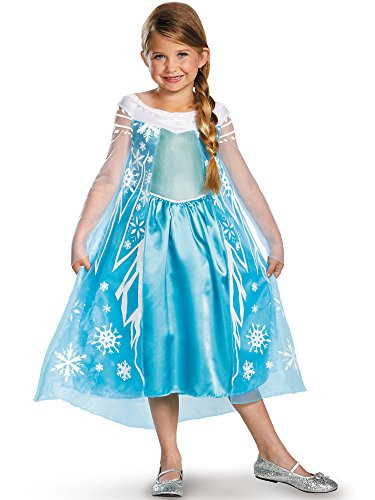 Disney Pixar Frozen Queen Elsa Dress Deluxe Costume (Child 4/6X)