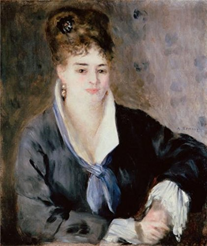 'Woman In Black,1876 By Pierre-Auguste Renoir' Oil Painting, 18x21 Inch / 46x54 Cm ,printed On Perfect Effect Canvas ,this Beautiful Art Decorative Canvas Prints Is Perfectly Suitalbe For Basement Decor And Home Gallery Art And Gifts