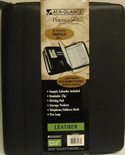 At-A-Glance Planner Folio Executive Leather Planner, (At A-glance Pen)