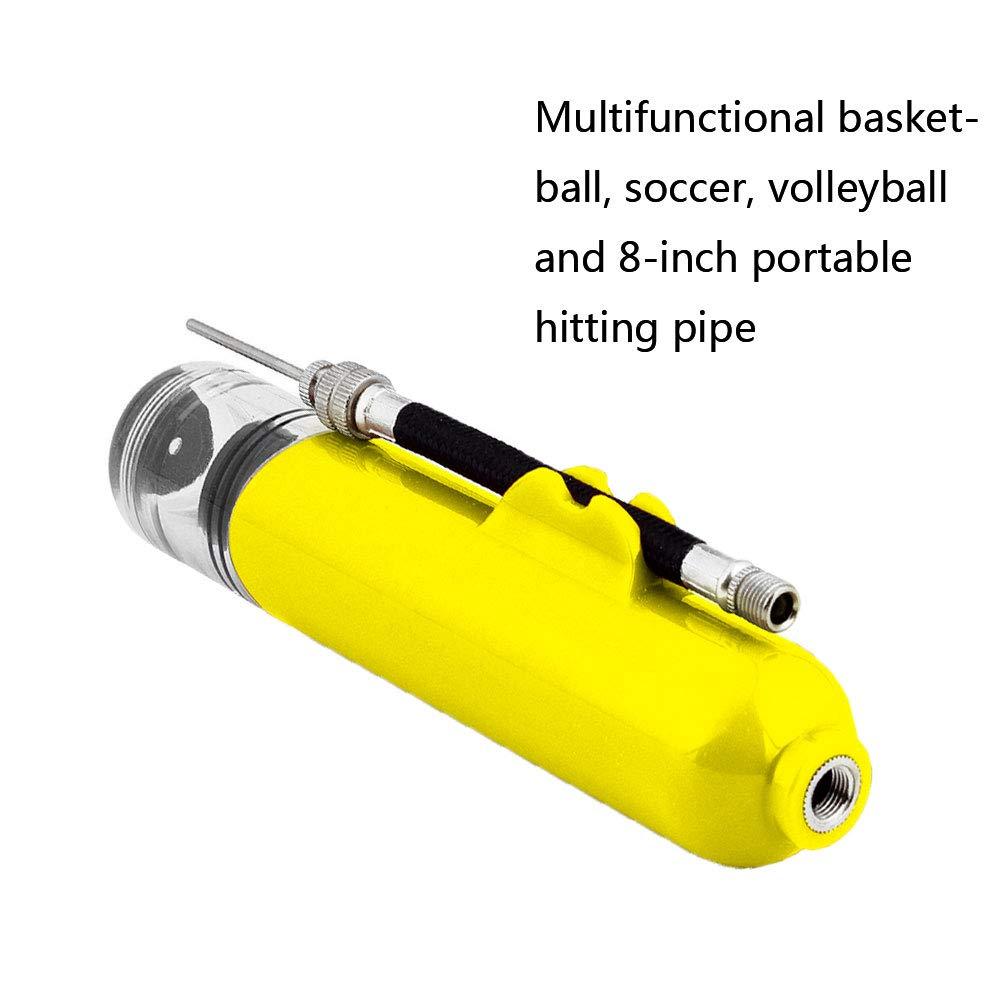 Handluftpumpe Mini Ballpumpe mit 3 Nadeln und 1 D/üse Tragbare Inflator Luftpumpe f/ür Reifen Basketball Fu/ßball Volleyball Schwarz 1Set