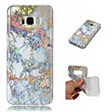 Galaxy S8+ Plus Case,Gift_Source [Anti Slip] [Slim Thin] Colorful Plating 3D Marble Silicone Rubber Case Clear Bumper Protective Soft TPU Back Cover for Samsung Galaxy S8+/S8 Plus 6.2'' [Gold]