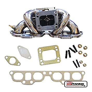 Top Mount Turbo Manifold for 2.0L Nissan 240SX//Silvia S13//S14//S15 SR20DET T3//T4