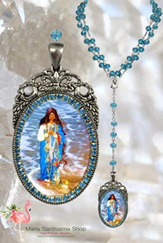 Sarah Kali Rosary or Sara Kali Patroness of Romani People (Gypsies) Handmade Jewelry Medal Pendant
