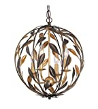 Mini Chandeliers 4 Light With English Bronze and Antique Gold Wrought Iron 16 inch 240 Watts – World of Lighting Review