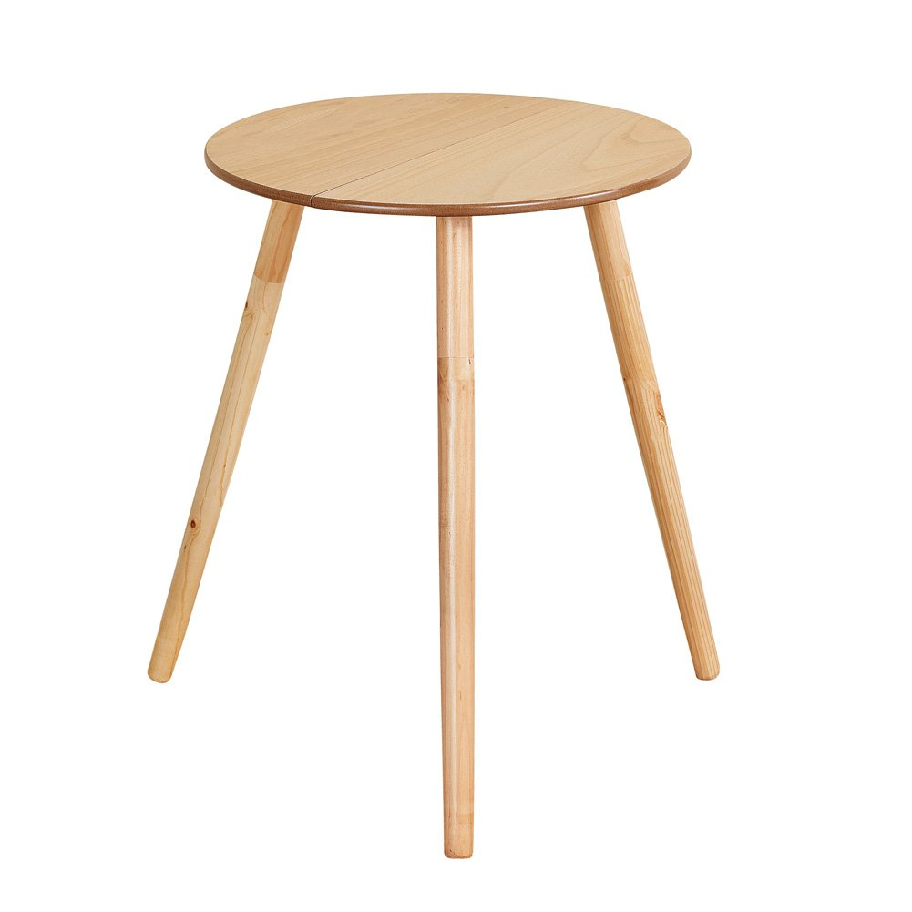 """Collections Etc Wooden Round Side Accent Table, 20"""" Diameter x 25.5"""" Height – Sturdy Classic Three-Legged Round Side Table for Use in Bedroom, Living Room or Entryway by Collections Etc"""