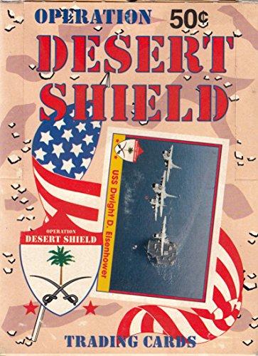 Battlestar Galactica Trading Cards - OPERATION DESERT SHIELD 1991 PACIFIC TRADING CARD BOX OF 36 WAX PACKS