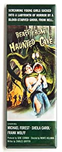 Beast From the Haunted Cave Movie Poster Fridge Magnet (1.5 x 4.5 inches) from Blue Crab Magnets