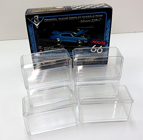 6 Pack of 1/64 Clear Diecast Car Display Cases