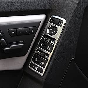 Adhesivo de coche ABS cromado para interruptor de elevación de ventana, accesorios para A/B/C/E/GLE/GLA/CLA/GLK/ML W212 W204: Amazon.es: Coche y moto