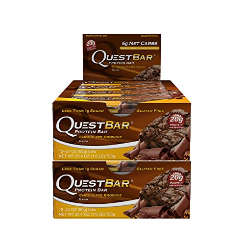 Quest Nutrition Protein Bar Chocolate Brownie. Low Carb Meal Replacement Bar w/20 g+ Protein. High Fiber, Soy-Free, Gluten-Free (24 - Brownie Bar Chocolate Protein