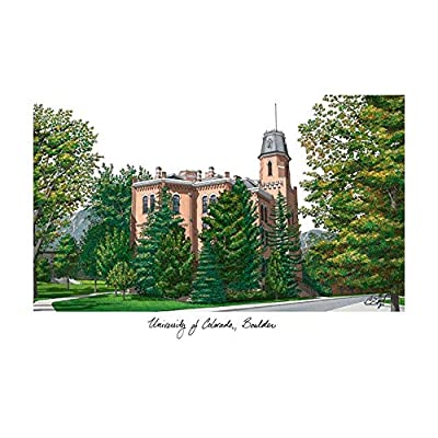 Campus Images University of Colorado, Boulder Campus Images Lithograph Print
