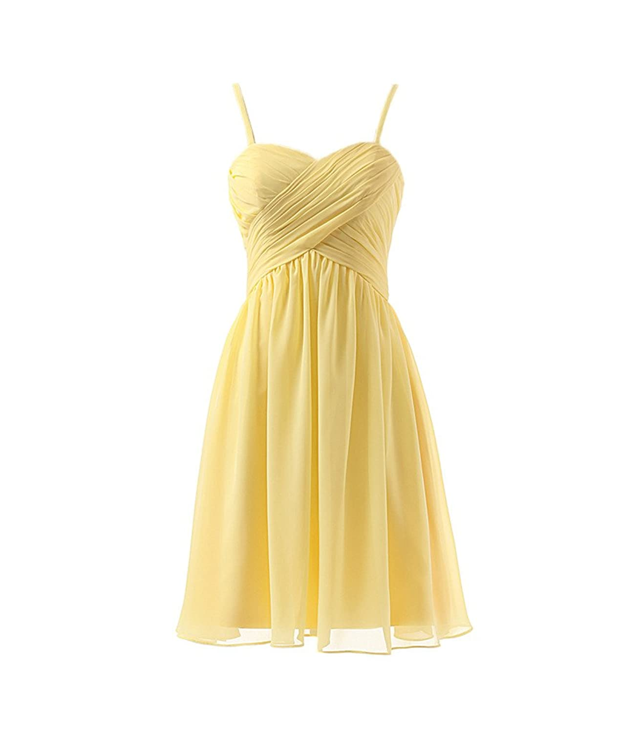 Fanmu Womens Short Chiffon Homecoming Cocktail Dress Bridesmaid Gown