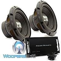 pkg (2) Alpine SWA-10S4 10 Single 4-Ohm 250W RMS Bassline Series Subwoofers + Power Acoustik RZ1-1500D Monoblock 1500W Max Class D RAZOR Series Full Range Amplifier