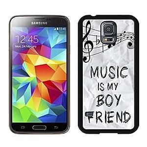 Pop Samsung Galaxy S5 Case Music Is My Boyfriend Cute Soft Silicone Black Phone Cover