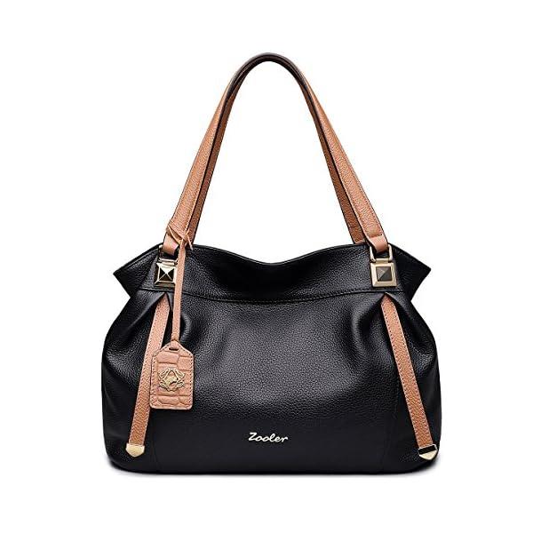 5b60dee3b ZOOLER Genuine Leather Handbags for Women Top Handle Bags Lady's Purse -  Ma-Zone