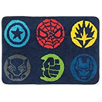 Marvel Comics All New Style Avengers Super Hero 20-Inch x 30-Inch Super Fun Bath Rug Features Captain America, Hulk, Black Panther, Spiderman, Iron Man, Soft Area RUG non Slip Backing