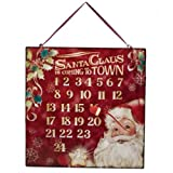 Grasslands Road ''Santa Claus is Coming to Town'' Countdown Magnet Calendar, 12 by 12-Inch, Red