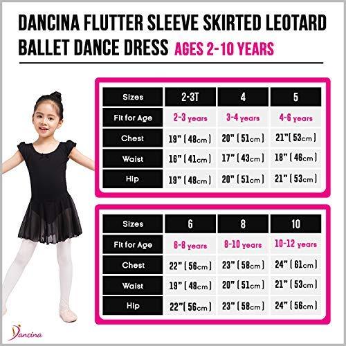 55b944c01e47 Amazon.com  Dancina Flutter Sleeve Skirted Leotard for Girls  Clothing