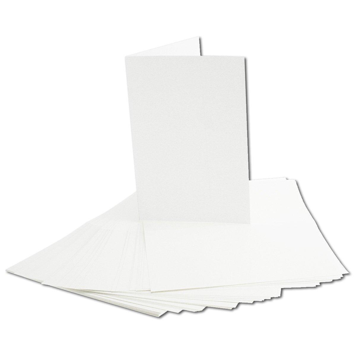 200x faltbares Einlege-Papier für B6 Doppelkarten   transparent-weiß   163 x 224 mm (112 x 163 mm gefaltet)   ideal zum Bedrucken mit Tinte und Laser   hochwertig mattes Papier von GUSTAV NEUSER® B07CJPHN44 | Schön geformt
