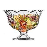 Elegant Large Crystal Serving Bowl, Centerpiece For
