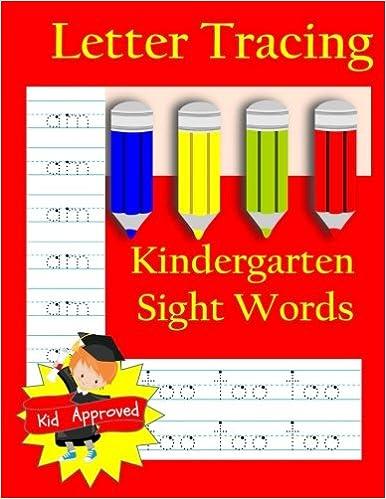Amazon Com Letter Tracing Kindergarten Sight Words Letter Books