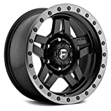 Fuel D557 Anza Сustom Wheel - Matte Black with Graphite Bead Ring 18'' x 9'', 1 Offset, 8x170 Bolt Pattern, 125.1mm Hub
