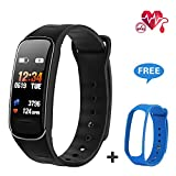 Fitness Tracker with Heart Rate Monitor,Activity Tracker with IP67 Waterproof Color Screen Pedometer/ Calorie &Step Counter, Smart Wristband/Watch/ Bracelet/Sleep Monitor/Message Notification for Kids