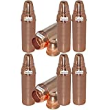 800 ML / 27 oz - Set of 8 - Prisha India Craft ® Pure Copper Water Bottle Pitcher or Thermos Flask for Ayurvedic Health Benefits 100% Genuine Copper Bottles - Indian Water Carafe Christmas Gift Item