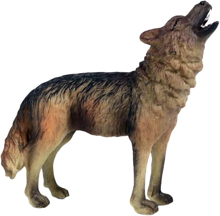 3pcs realistica ruggente feroce lupo modello fauna selvatica giocattolo per