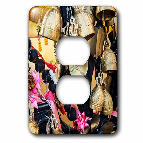 3dRose Danita Delimont - Objects - Thailand, Phuket Island, Bells of Faith at Phuket Big Buddha - Light Switch Covers - 2 plug outlet cover (lsp_276969_6) by 3dRose