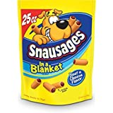 Snausages in a Blanket Dog Treats, Beef and Cheese Flavor, 25 ounce (pack of 3) by Snausages