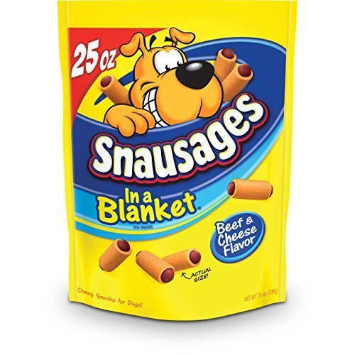 Snausages in a Blanket Dog Treats, Beef and Cheese Flavor,