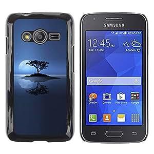 Smartphone Rígido Protección única Imagen Carcasa Funda Tapa Skin Case Para Samsung Galaxy Ace 4 G313 SM-G313F Lonely Island Moon / STRONG