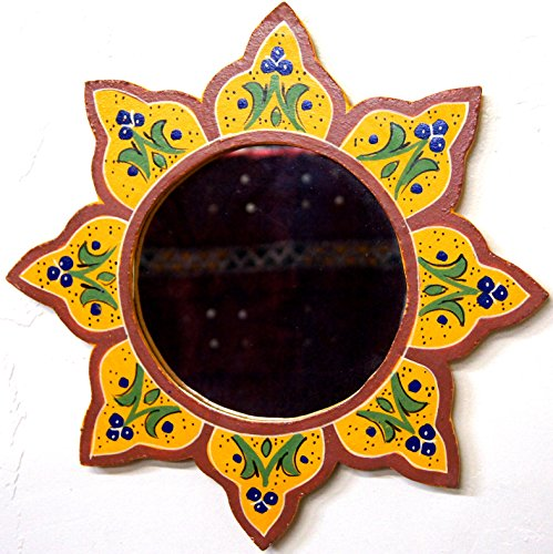 Moroccan Decoration Mirror Colorful Painted Wall