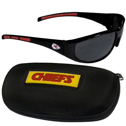 Siskiyou NFL Kansas City Chiefs Wrap Sunglasses & Zippered Case, Black ()