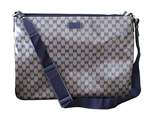 Gucci Men's Laptop Sling Messenger Bag 278301 (Blue Crystal GG)
